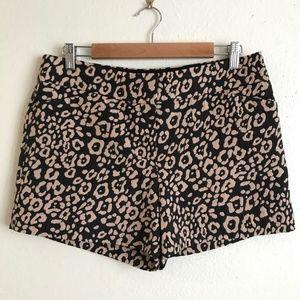 LOFT Black Tan Leopard / Cheetah Print Shorts